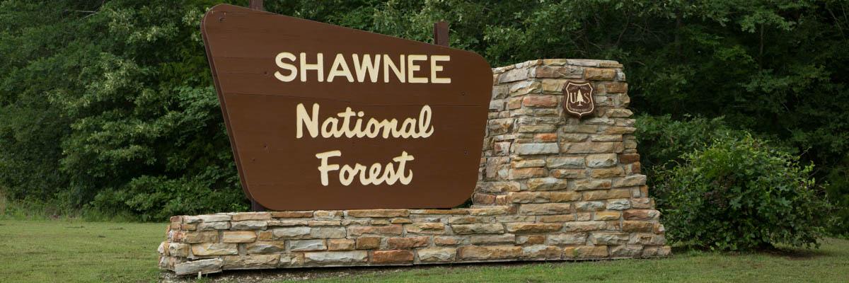 Shawnee National Forest Illinois Main Sign